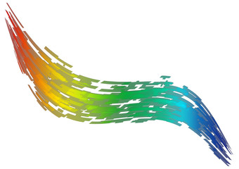 Abstrakter Regenbogen bunt