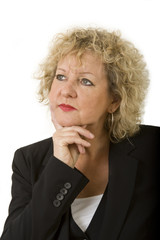 Business female portrait with curly hair