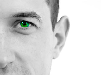 Stock Photo: Closeup of a beautiful green eye