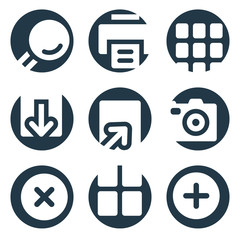 Image viewer web icons, crop series