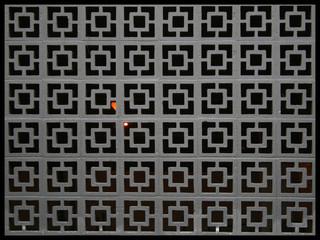 Wall of Concrete blocks