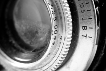 Vintage Reflex Camera Lens Angle Perspective