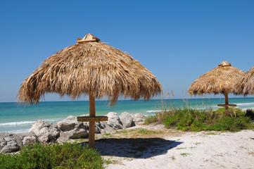 Tiki Hut on the Beach