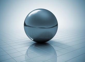 Glossy metal sphere