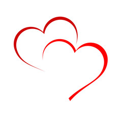 Logo two hearts # Vector
