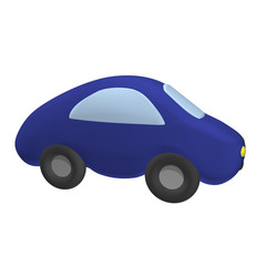The small toy car 3d, it is isolated