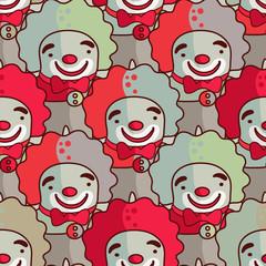 Clowns - seamless pattern