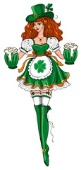 Beautiful leprechaun girl