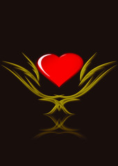 chalice whith heart