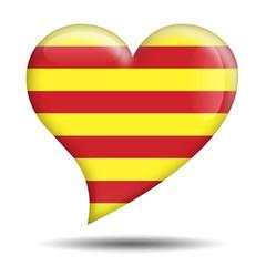 Corazon brillante bandera Cataluña