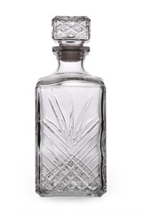 Isolated empty decanter (with clipping path)