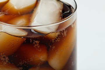 Carbonated Cola Beverage against White Background