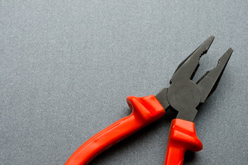Pliers isolated on grey