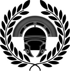roman helmet. stencil. third variant