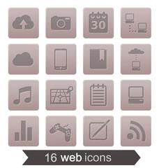 16 web icons v2 (grey)