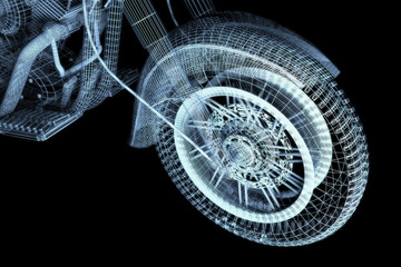 Motorbike's wheel (wireframe)