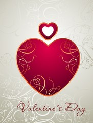 Vector valentine's background with heart