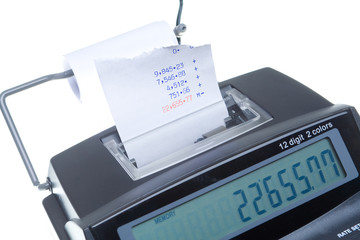 Isolated Adding Machine and Tape with Total
