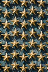 Gold Stars on Wall National World War II Memorial.