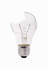 broken household light bulb