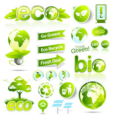Green eco and bio collection