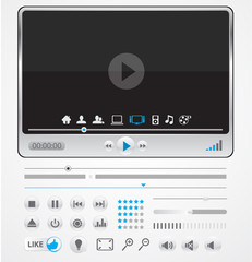 Vector media player with buttons