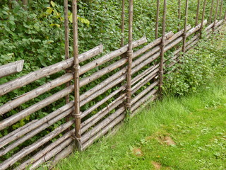 Traditional Swedish wooden fence