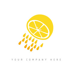 logo picto web citron marketing pub commerce design icône