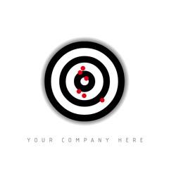 logo picto web cible marketing pub commerce design icône
