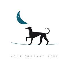 logo picto web chien marketing pub commerce design icône