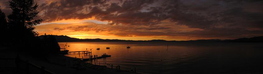 Printed kitchen splashbacks Lake Lake Tahoe Sunset