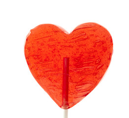 candy heart on a stick