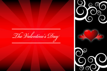 valentine's day template card