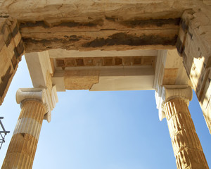 Detail of the Propylaea, Acropolis, Athens Greece, room for type