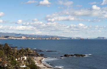 View of San Juan De Los Terreros Coastline, Almeria, Spain