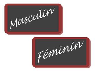 PANNEAU MASCULIN FEMININ