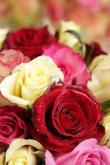Diamant et roses