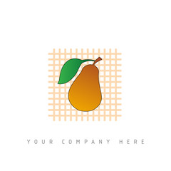 logo picto web fruit marketing pub commerce design icône