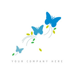 logo picto web marketing papillon pub commerce design icône