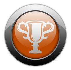 "Orange Metallic Orb Button ""Award Cup"""