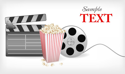 Set of cinema symbols. Vector illustration.