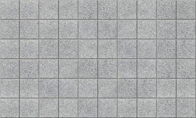 Tiled concrete pavement