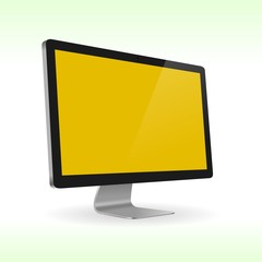 LCD monitor isolated for presentations