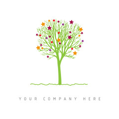 logo picto web arbre magie marketing commerce design icône