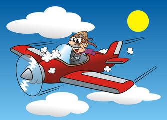 Keuken foto achterwand Hemel Aircraft Pilot Flying