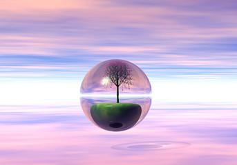 Albero sfera cristallo