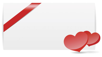 Vector. Romantic valentine card template.