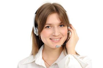 female customer service representative