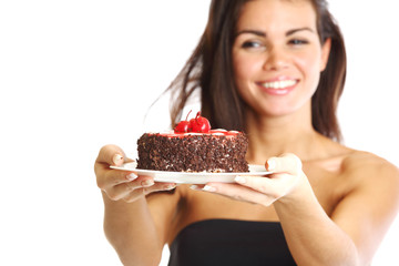 woman and cake