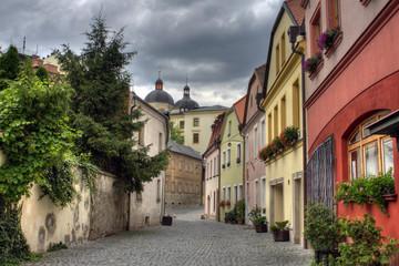 Piękna zabytkowa zabudowa czeskiego miasta Olomouc